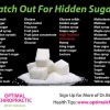 A list of hidden sugars in food