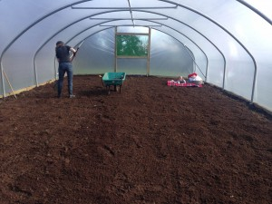 Preparing the ground to grow our own veg