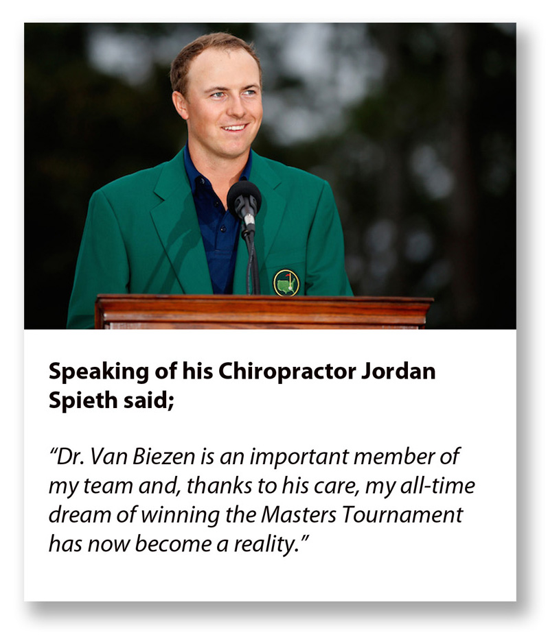 Jordan Spieth quote on Chiropractic