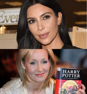 What do Kim Kardashian and J.K. Rowling have in common?