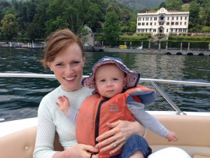 On the boat on Lake Como