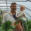 Ben and Aisling in Polytunnel