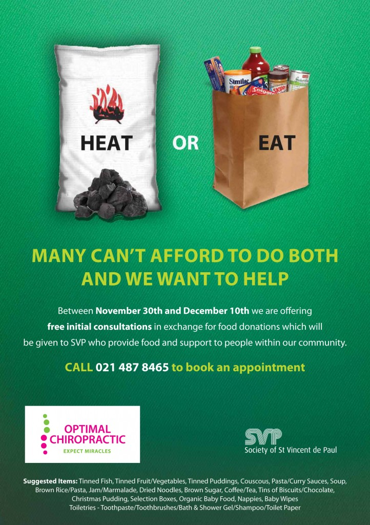 Free Chiropractic Care for Food Donation
