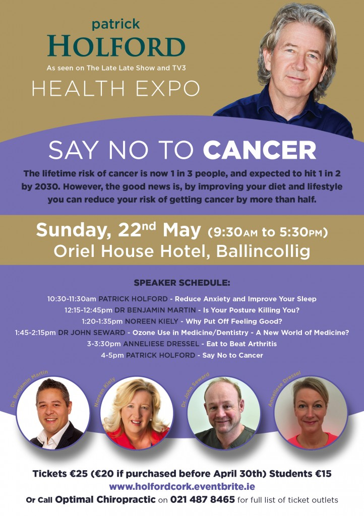 How to Prevent Cancer - Health Expo with Patrick Holford Cork