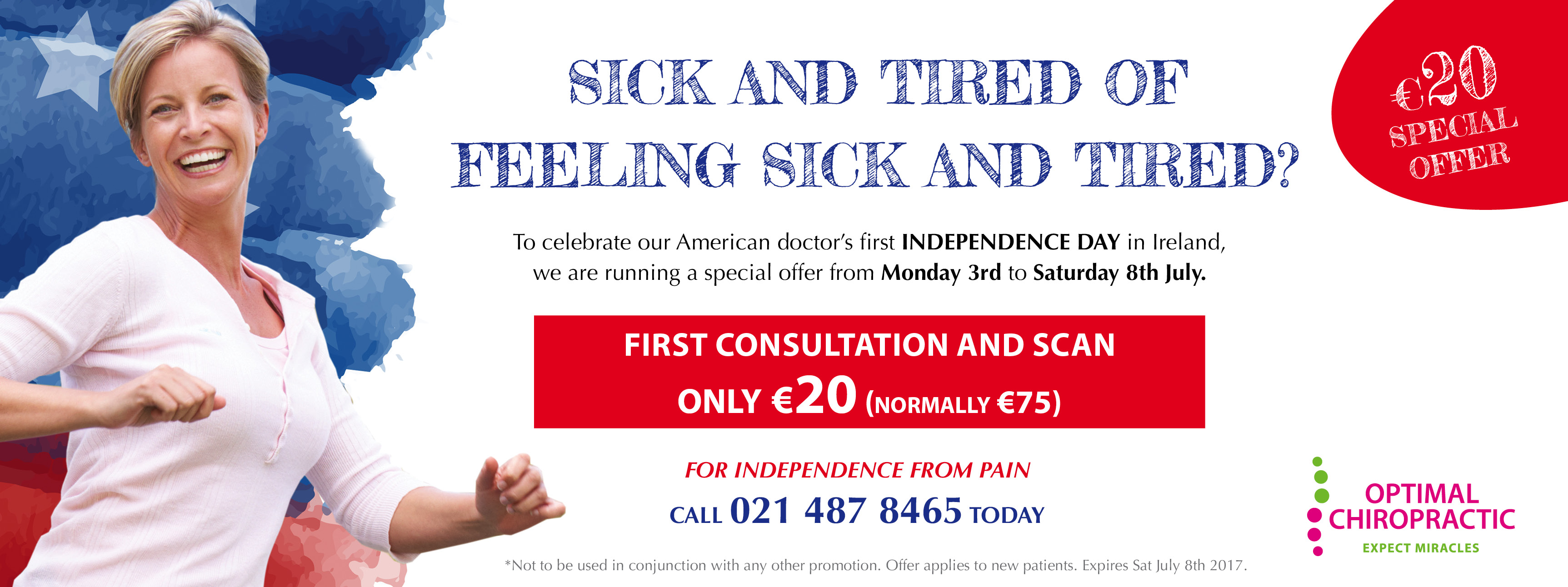 Independence from Pain Promotion - €20 for First consultation and scan