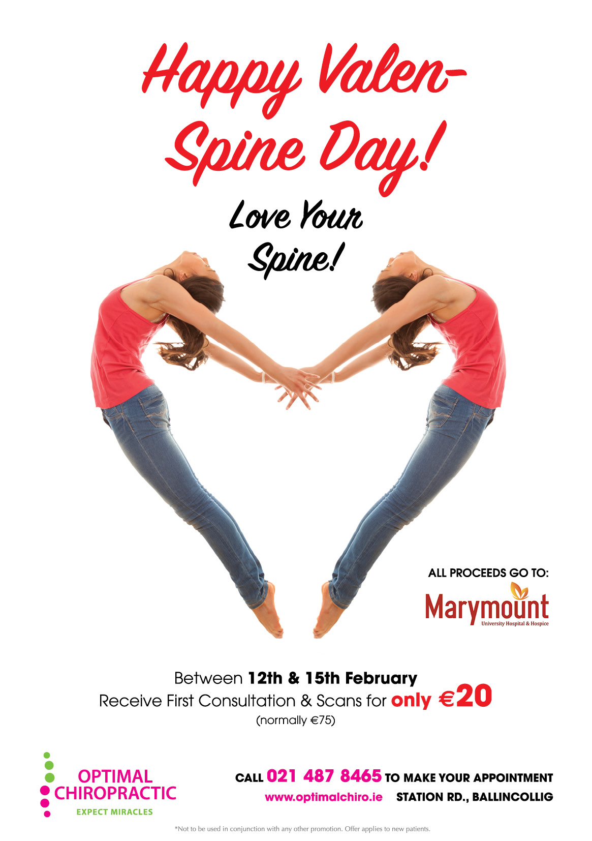 ValenSpine, Love Your Spine Promotion in aid of Marymount Hospice