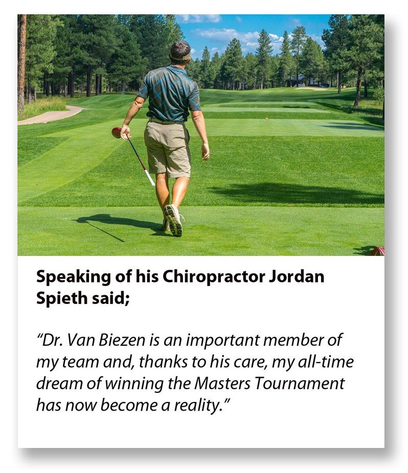 Jordan Spieth quote on Chiropractic